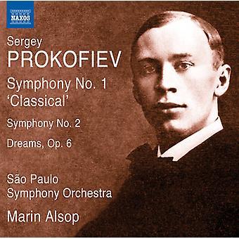 Prokofiev / Alsop / Sao Paulo Sym Orch - Syms 1-2 & rêves Opus 6 [CD] USA import