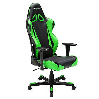 DX Racer DXRacer OH/RB1/NE High-Back Racing Chair For Gaming Carbon Look Vinyl+PU(Black/Green)