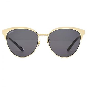 Gucci Metal Cateye Sunglasses In Gold