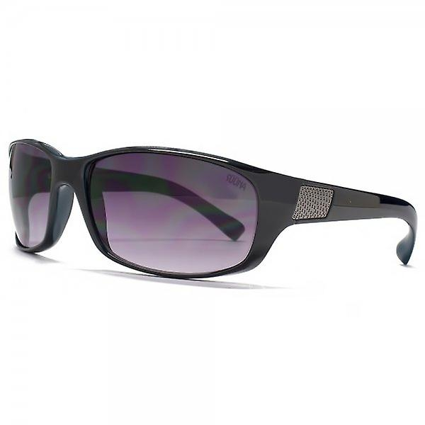 SUUNA Knox Soft Wrap Sunglasses In Black On Blue