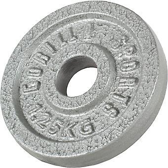 Hantelscheibe Guss Silber 1,25 kg