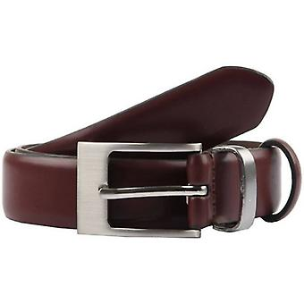 Dents Classic Leather Belt - Chestnut