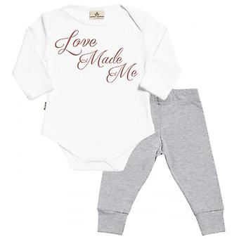 Verwöhnte faulen Liebe hat mich Babygrow & Baby Jersey Hose Outfit-Set