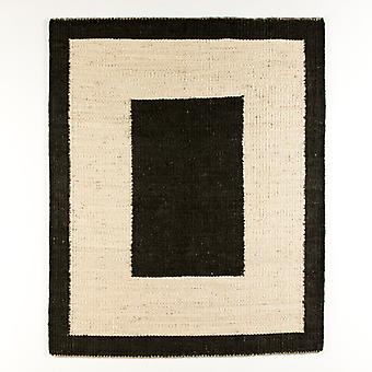 Wellindal Alfombra 200x250 Yute Blanco y Negro (Home , Textile , Carpets)