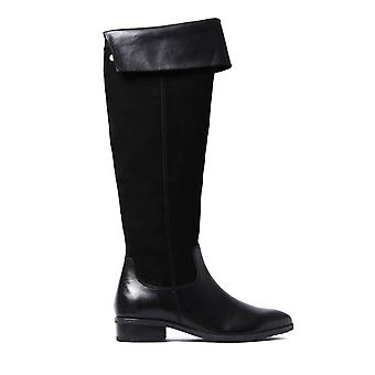 Women's Over The Knee Tall Boots - Black Suede