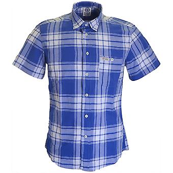 Franklin & Marshall Al318 Hollywood solo cheque azul camiseta
