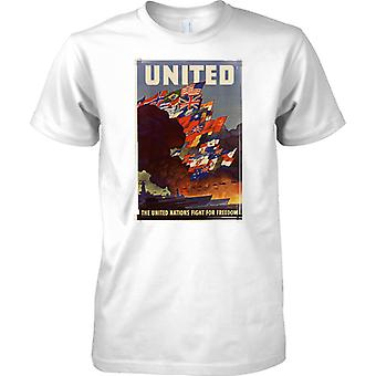 WW2 USA plakat propagandy - ONZ - dzieci T Shirt