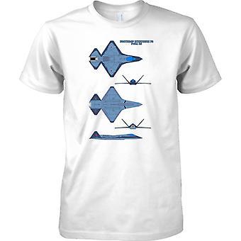 Northrop-Mitsubishi-F36 A uns Militärflugzeuge - T-Shirt für Herren
