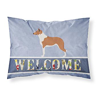 Smooth Collie Welcome Fabric Standard Pillowcase