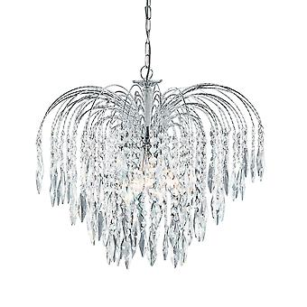 Searchlight 4175-5 Waterfall Chrome 5  Light Ceiling Pendant
