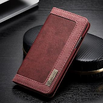 CaseMe Booktasche Flip case Apple iPhone X / 10 cover case protective cover red new
