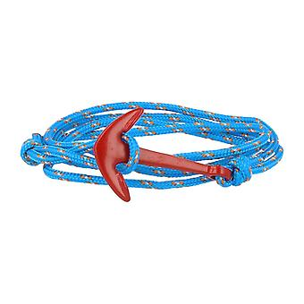 Vikings red-line anchor strap nylon in light blue and beige with anchor in red