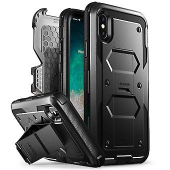 iPhone X sag, [Armorbox] i-Blason bygget i [Screen Protector] [Full body] [Heavy Duty beskyttelse] [Kickstand], Iphone X