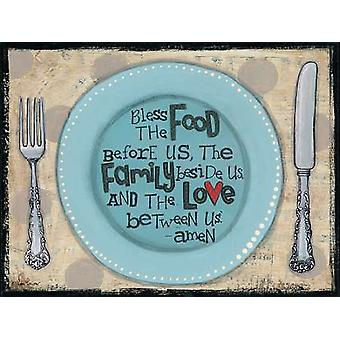 Bless the Food Poster Print by Lisa Larson (16 x 12)