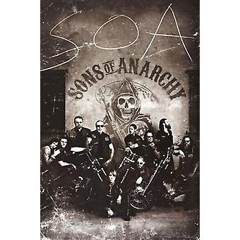 Sons of Anarchy - Vintage Poster affisch Skriv