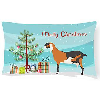 アングロ ・ ヌビアン ヌビア ヤギ クリスマス キャンバス生地の装飾的な枕