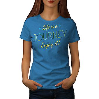 Leven reis vrouwen Koninklijke Bluetooth-shirt | Wellcoda