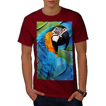 Parrot Bird Cute Men RedT-shirt | Wellcoda