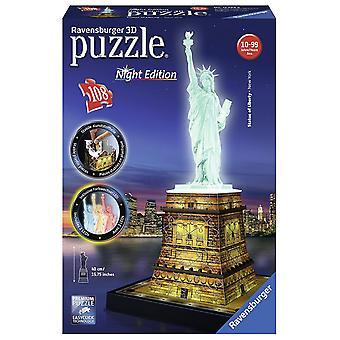 Ravensburger standbeeld van Liberty nacht Edition 108Pc 3D puzzel