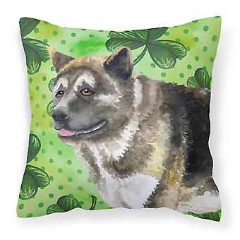 American Akita St Patrick's Fabric Decorative Pillow