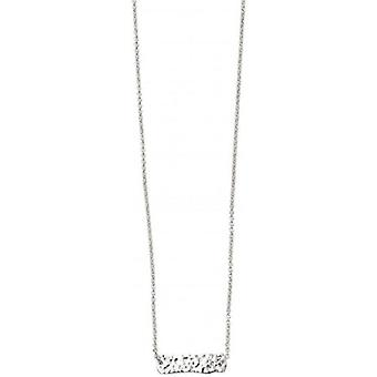 Beginnings Hammered Bar Necklace - Silver