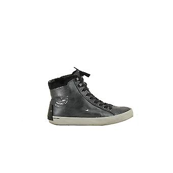 Crime London women's 25004A17O silver leather Hi Top sneakers * Slightyly damaged *.