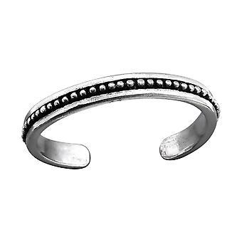 Patterned - 925 Sterling Silver Toe Rings - W27189x