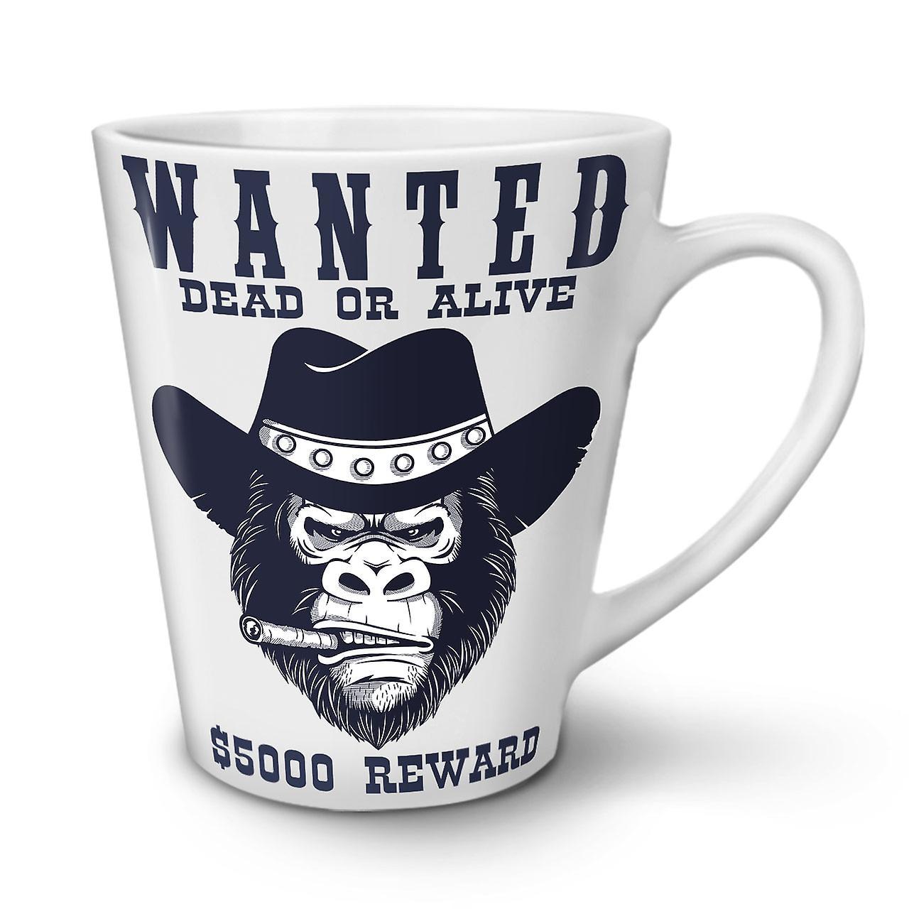 Bad Mug Latte New White Ceramic Coffee Cowboy OzWellcoda Tea Monkey 12 Face y6IYgvbf7