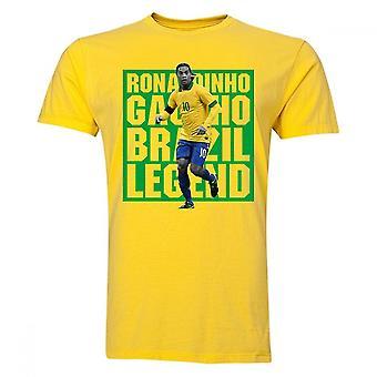 Ronaldinho Brasilien Spieler T-Shirt (gelb)