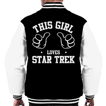 This Girl Loves Star Trek Men's Varsity Jacket