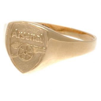 Arsenal 9ct Gold Crest Ring Large