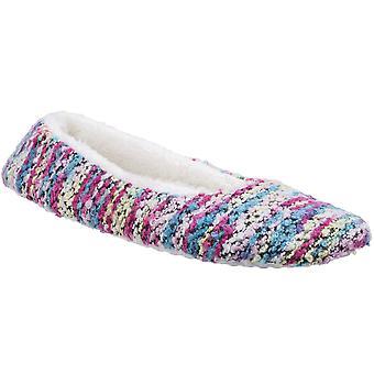 Divaz Womens/Ladies Divaz Morzine Knitted Slip On Fluffy Sock Slippers