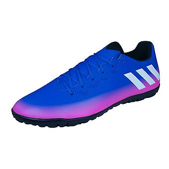 adidas Messi 16.3 TF Mens Astro Turf Football Trainers / Boots -  Blue