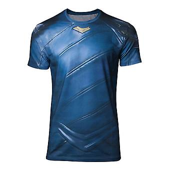Mens Marvel Comics Thor Ragnarok Loki Armor Sublimation T-Shirt Medium