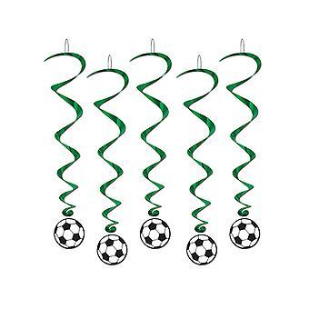Fotboll boll hängande virvlar (paket om 5 virvlar)