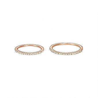 ESPRIT women's ring Fingerring ställa silver Rosé cubic zirconia ESSE91010C1