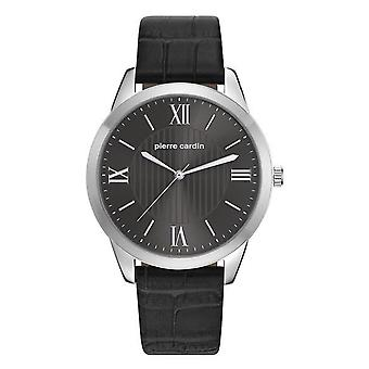 Pierre Cardin mens watch wristwatch leather PC107891F02