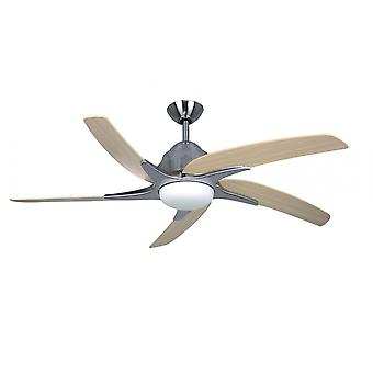 Ceiling fan Viper Plus Stainless Steel with lighting 112 cm / 44