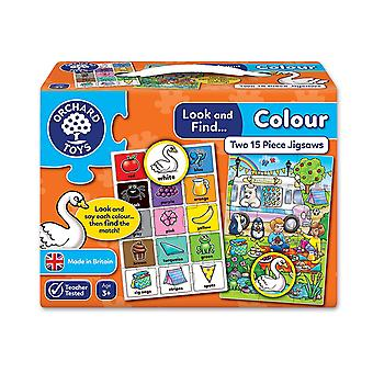 Orchard Toys Look and Find Colour Jigsaw - 2 in a box