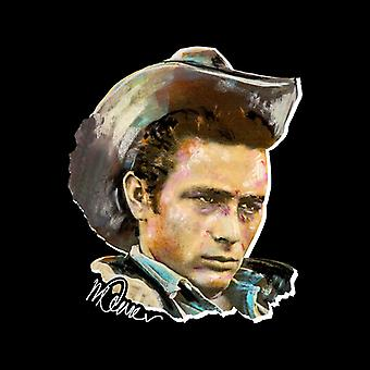 Sidney Maurer Original Portrait Of James Dean Cowboy Hat Men's Sweatshirt