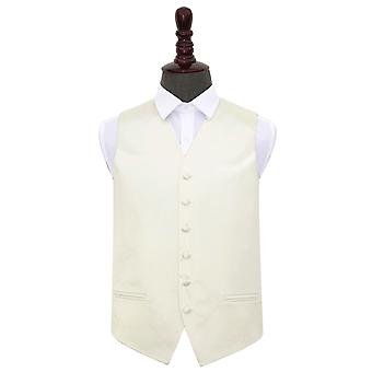 Ivory Plain Satin Wedding Waistcoat