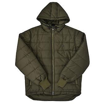 Warbucks LRG con capucha Puffer chaqueta oliva