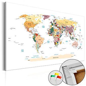 Dekorativa Pinboard - världskarta [Cork karta]
