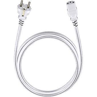 Cable [1x PG plug - 1x IEC C13 socket ] 3 m White Oehlbach