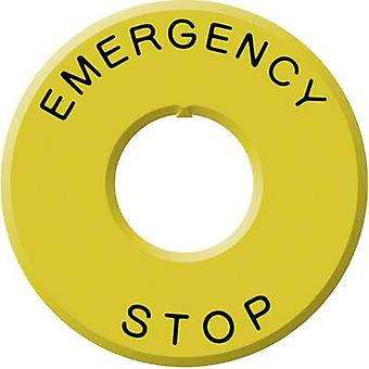 Idec HWAV-27 Emergency Off Sign 22 MM