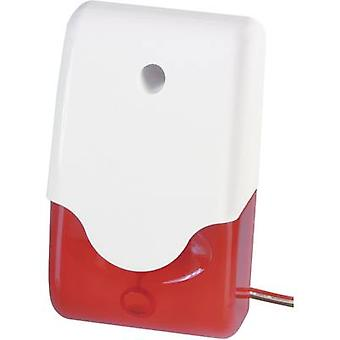 Alarm sounder + flashing light 100 dB Red Indoors, Outdoors 12 Vdc ABUS SG1681