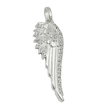 Trailer 33x11mm Angel Wings cubic zirconia 925 Silver