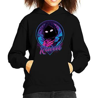 Raven porträtt Fortnite Kid's Hooded Sweatshirt