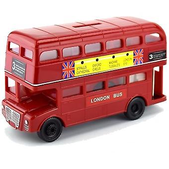 Union Jack Wear Large London Red Bus Money Box