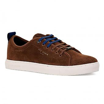 Ted Baker Mens Kaliix Suede Trainers (Tan)